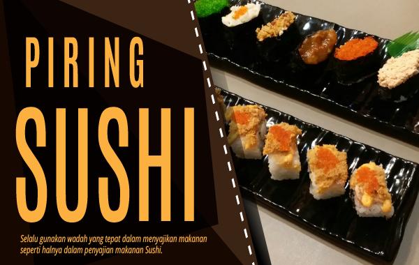 Piring Sushi Melamin Glori