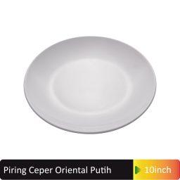 piring ceper oriental putih