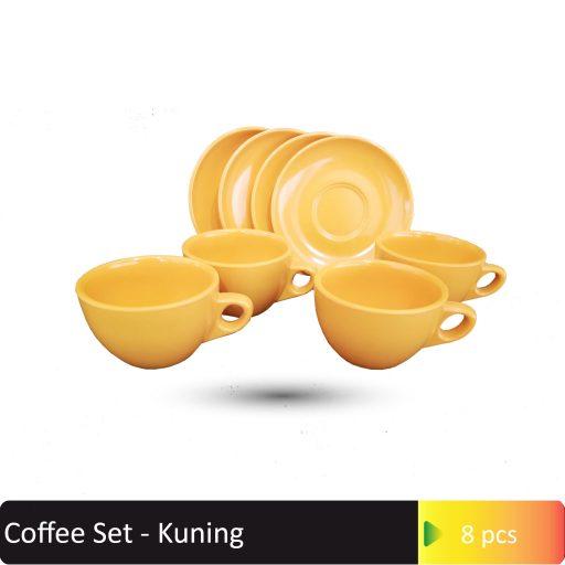 Coffee Set Kuning