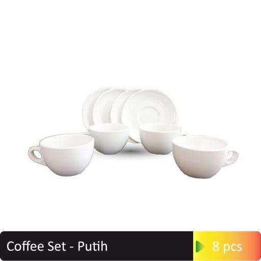 Coffee Set Putih
