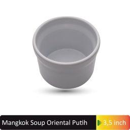 mangkok soup oriental putih