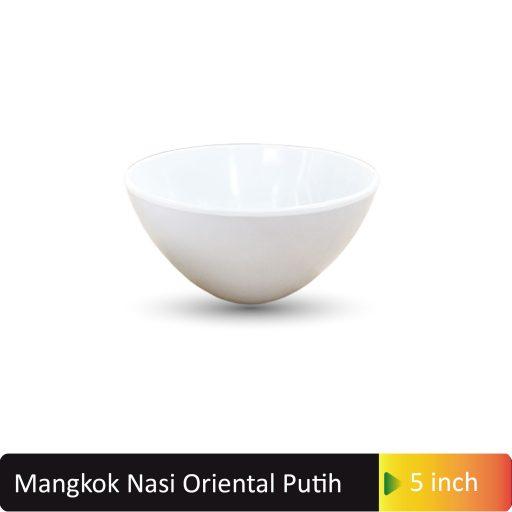 mangkok nasi oriental putih
